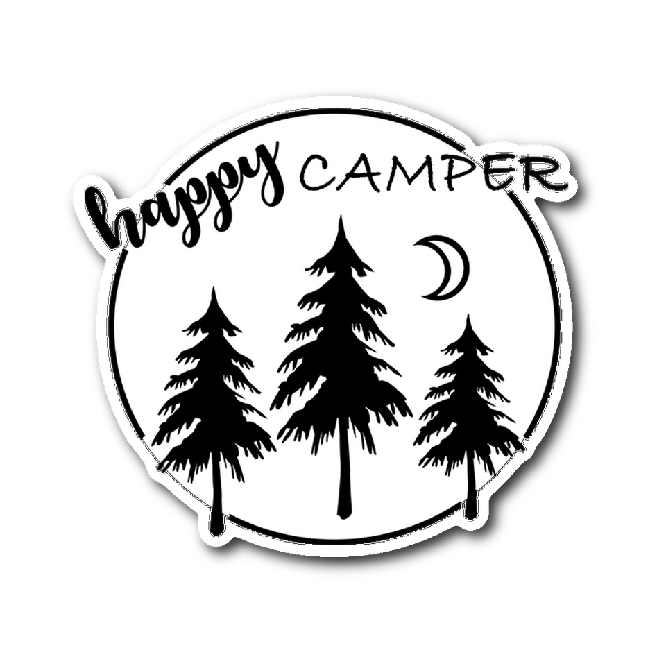 Happy Camper - Vinyl Die Cut Sticker