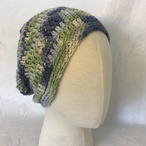 Pastel Blue/Green Simple Slouch Hat