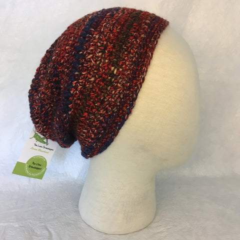 Red Multi Color Burst Beanie