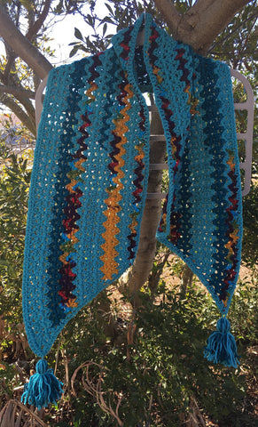Blue Gypsy Philomena Shawl