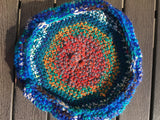 Rainbow Crochet Beach Frisbee