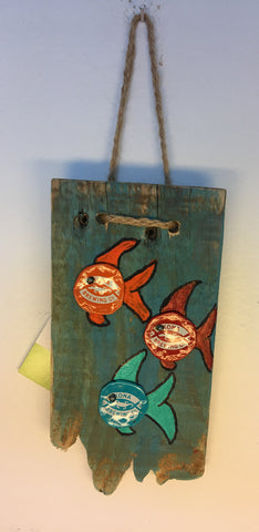 """Three Little Fish"" Cap Pallet Art"