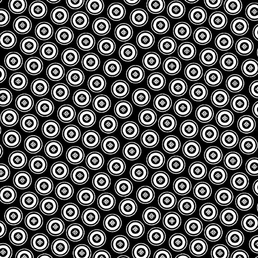 NIGHT & DAY Dotty Buttons black/white