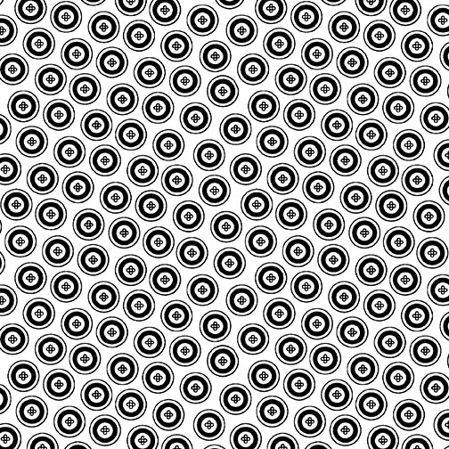 NIGHT & DAY Dotty Buttons white/black