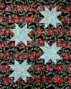 "STAR SPANGLED Winter Blooms 48""x60"""
