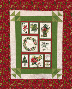 "FERNANDA Merry and Bright Red/Green flipped 55""x73"""