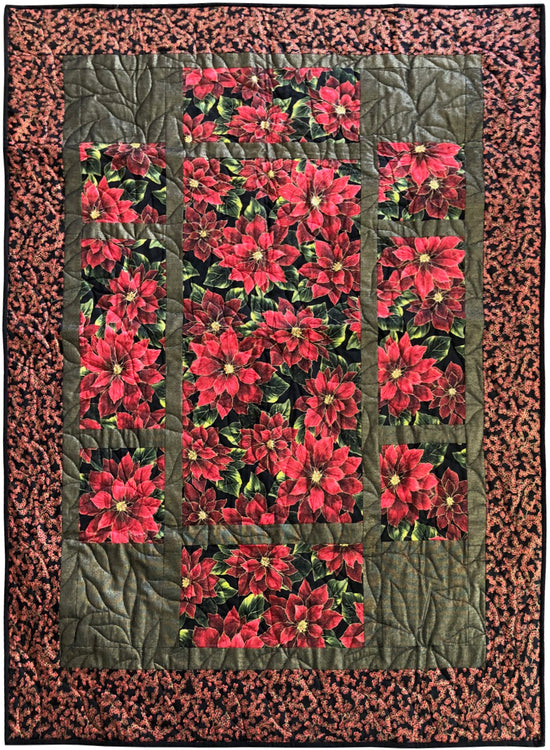 "PACIFIC GROVE Poinsettia 46""x62"""