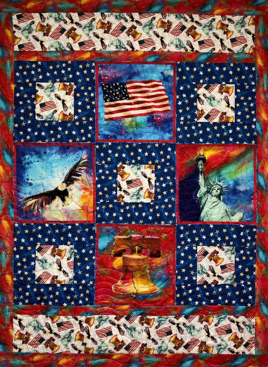 "LIBERTY BELL American Icons 54""x73"""