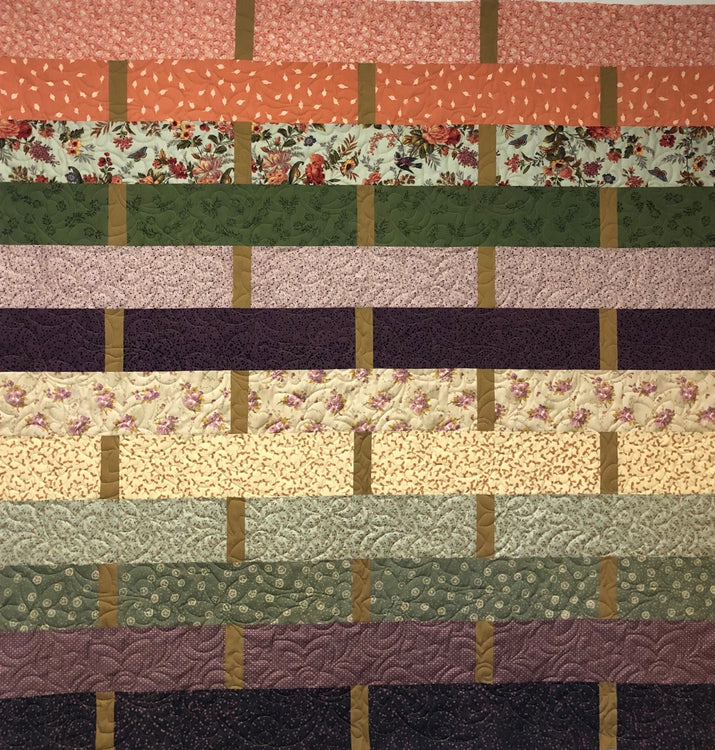 "WEAVE Bed of Roses/Primitive Batik 62""x63"""