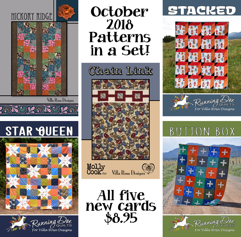 Oct 2018 SET of 5 CARDS