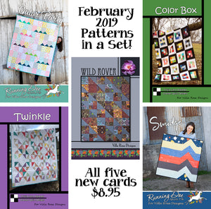 Feb 2019 SET of 5 CARDS
