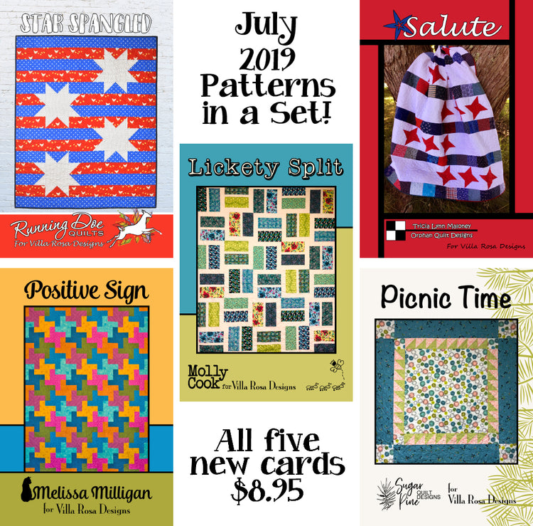 Jul 2019 SET of 5 CARDS