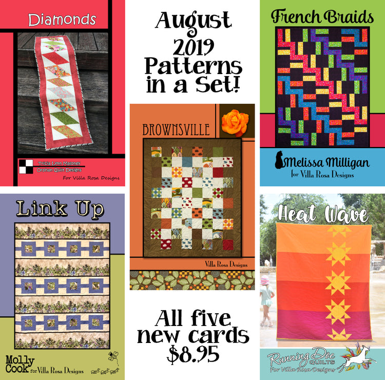 Aug 2019 SET of 5 CARDS