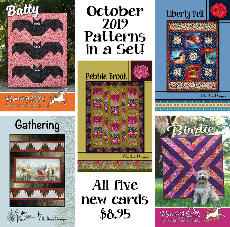 Oct 2019 SET of 5 CARDS
