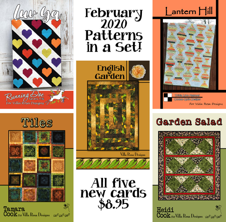 Feb 2020 SET of 5 CARDS