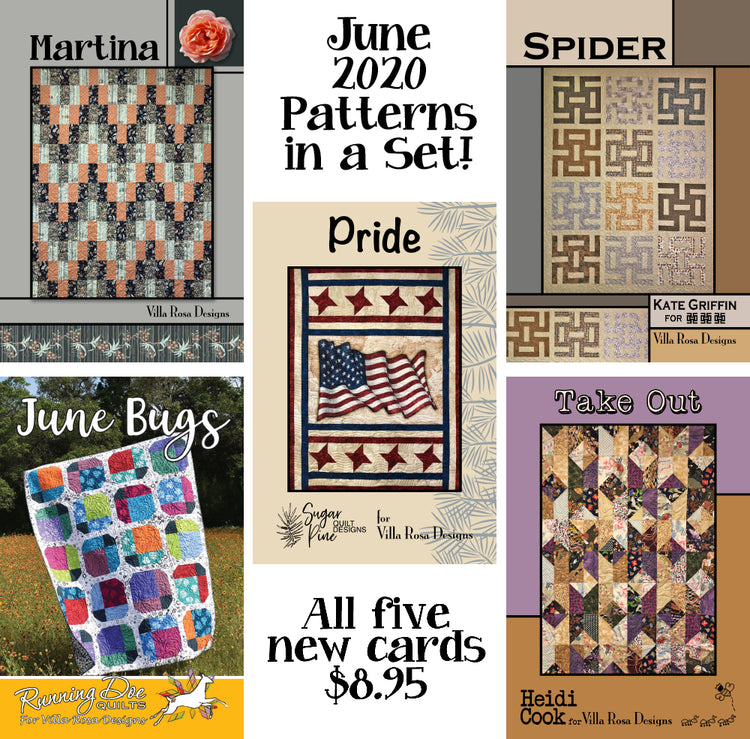 June 2020 SET of 5 CARDS