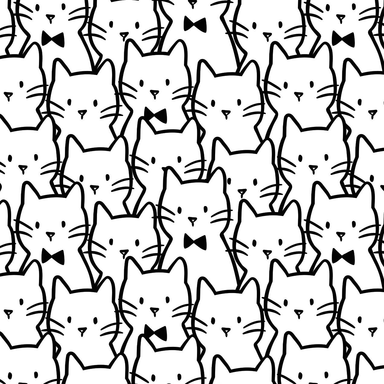 MEOW Cat Cluster white