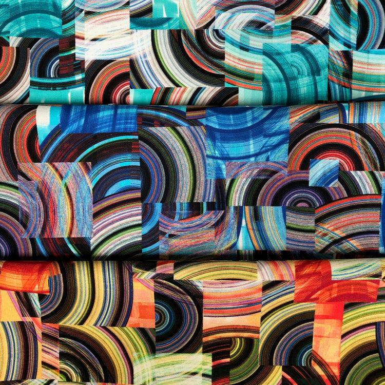 TRANSCENDENCE Geo Collage 3-One Yard Cuts