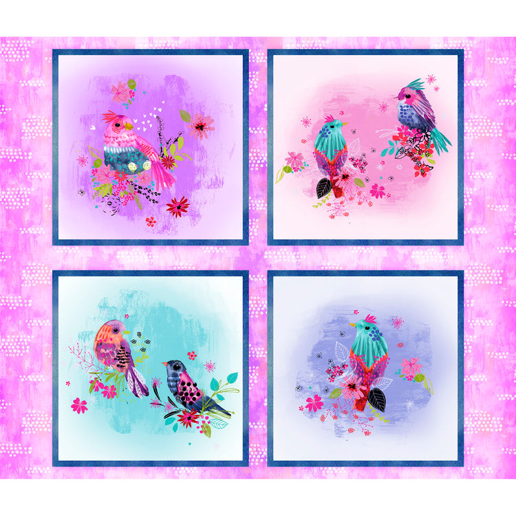 BRIGHT BIRDS 14987 multi Panel