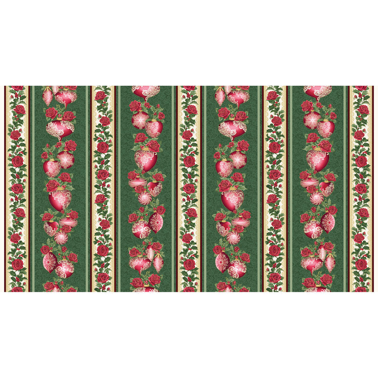 A FESTIVE SEASON III Festive Lace Stripe green/red