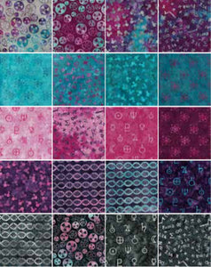 "ISLAND BATIK Blinded by Science 2 1/2"" Strip Pack"