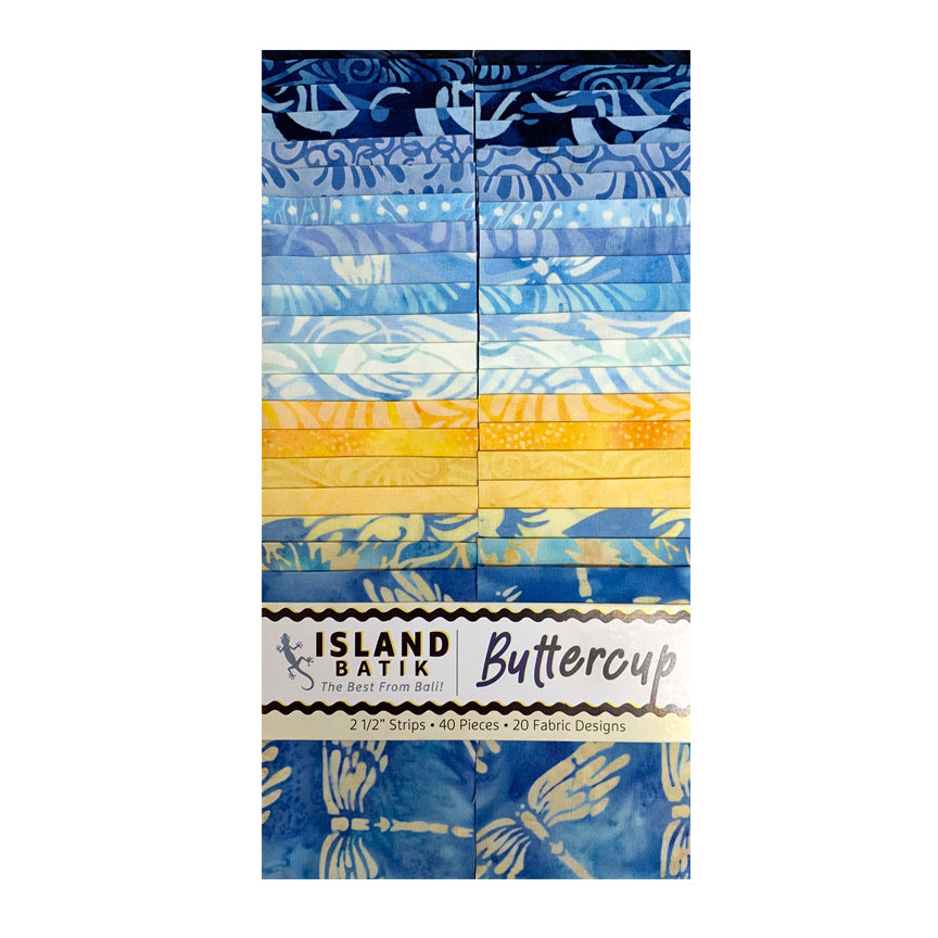 "ISLAND BATIK Buttercup 2 1/2"" Strip Pack"