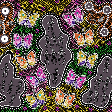 AUSTRALIAN Butterfly Dance Dreaming purple