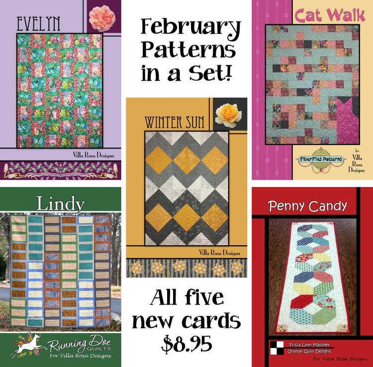 Feb SET of 5 CARDS