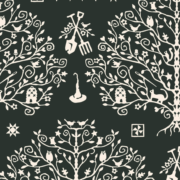 SPELLCASTER'S GARDEN Paper Cut Tree charcoal
