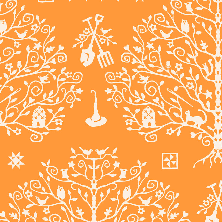 SPELLCASTER'S GARDEN Paper Cut Tree orange