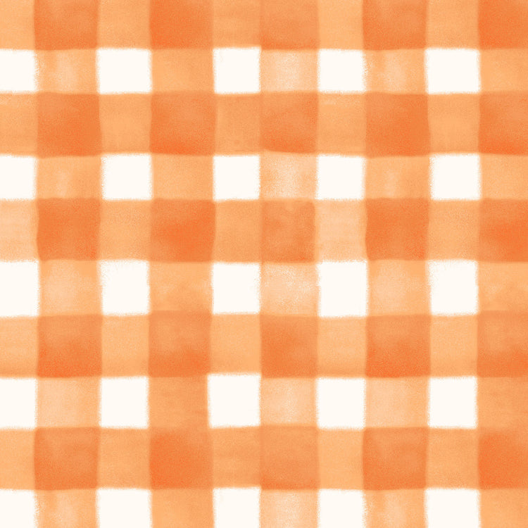 SPELLCASTER'S GARDEN Plaid orange