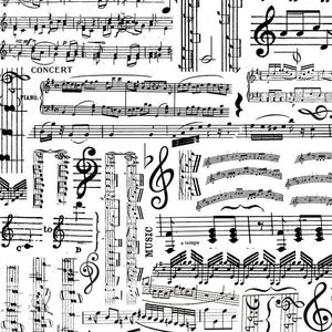 MUSIC Music Sheets white