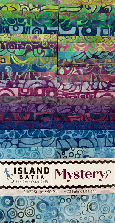 "ISLAND BATIK Mystery 2 1/2"" Strip Pack"