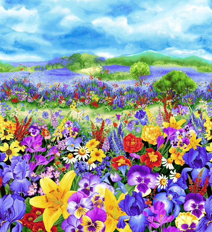 WILD MEADOW Pansy Meadow Panel multi