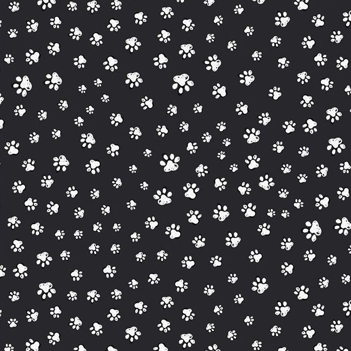 PET SKETCH Sketched Paw Prints black