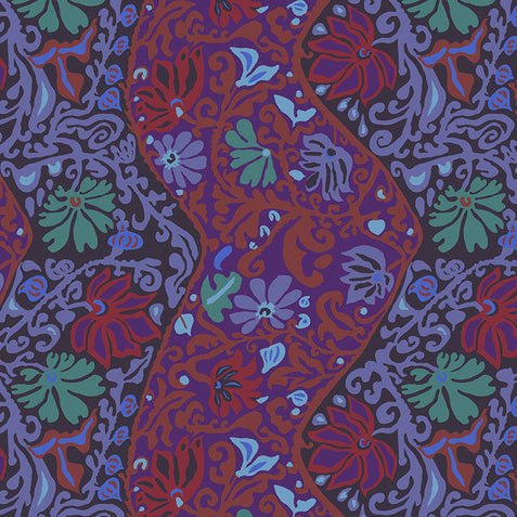 BALI BROCADE purple - one yard cut