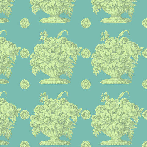 STONE FLOWER turquoise - one yard cut