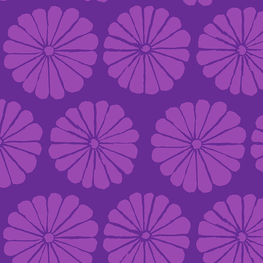 DAMASK FLOWER purple