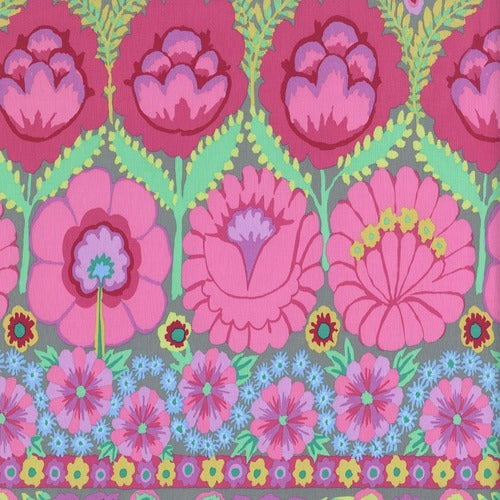 ARTISAN Embroidered Flower Border pink