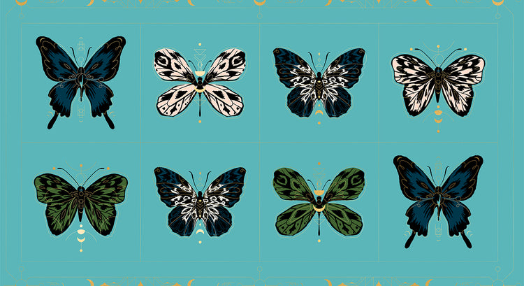 TIGER FLY Gossamer turquoise Panel