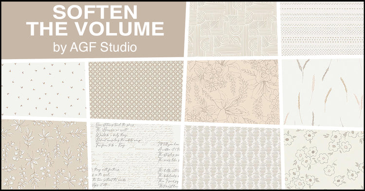 SOFTEN THE VOLUME 10 fat quarters