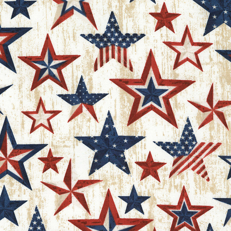 LAND OF THE FREE Americana Stars natural