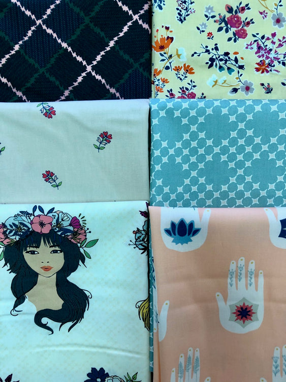 FLOWER CHILD 6 fat quarters