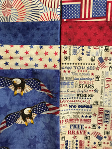 LAND OF THE FREE 7 fat quarters