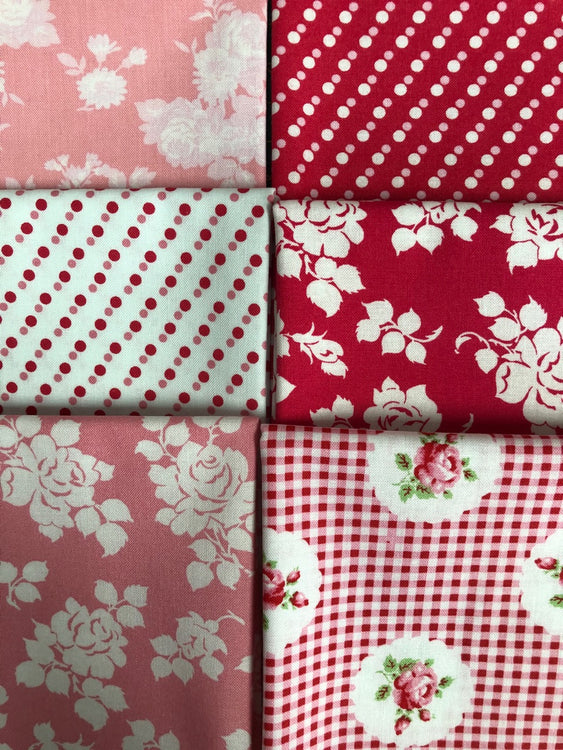 JANEY Rose 6 fat quarters