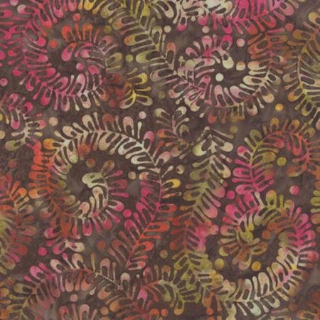 COLOR DAZE BATIKS Mixed Berry brown