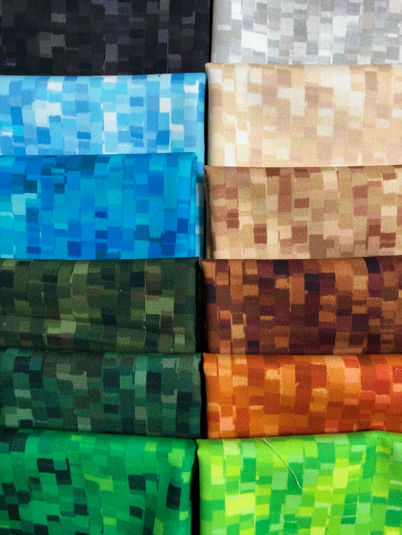OMBRE SQUARES Earth 12 fat quarters