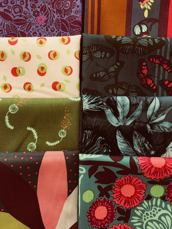 PASSIONFLOWER Blooming 8 fat quarters