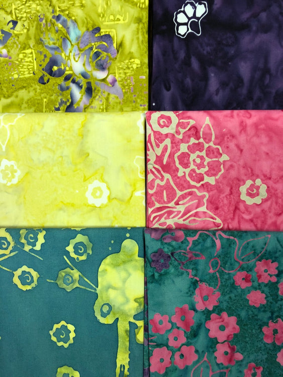PATIO Petunia 6 fat quarters