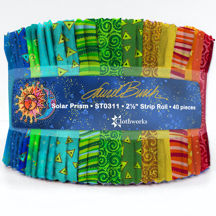 "LAUREL BURCH BASICS Solar Prism 2 1/2"" Strip Roll"